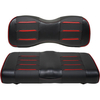 Buggies Unlimited Red/Carbon Prism Seat Covers for E-Z-GO