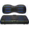 Buggies Unlimited Blue/Carbon Prism Seat Covers for GTW Mach Series Rear Seat Kits