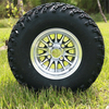 "Set of (4) 10″ Medusa Wheels On 22"" A/T Tires (Lift Required)"