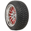 Set Of (4) GTW 10″ Medusa Wheels On Lo-profile Tires (No Lift Required)