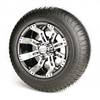 Set of (4) 10 inch GTW Tempest Wheels Mounted on Lo-Pro Street Tires