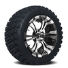 Set of (4) GTW 14 inch Vampire Wheels on A/T Tires