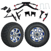 GTW 6″ Lift w/12″ Nemesis Metallic Wheel & Recon A/T Tire For Club Car DS (2004.5-Up)