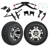 "GTW 6"" Lift w/12"" Vampire Machined/Black Wheel & Recon A/T Tire For Club Car DS (2004.5-Up)"