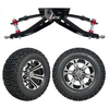 "GTW 6"" Lift w/12"" Specter Machined/Black Wheel & Recon A/T Tire For Club Car DS (1982-2003)"