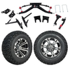 "GTW 6"" Lift w/12"" Specter Machined/Black Wheel & Recon A/T Tire For Club Car DS (2004.5-Up)"