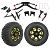 "GTW 6"" Lift w/12"" Nemesis Black Wheel & Barrage Mud Tire For Club Car DS (2004.5-Up)"