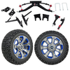 "GTW 6"" Lift w/14"" Nemesis Metallic Wheel & Recon A/T Tire For Club Car DS (2004.5-Up)"