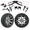 "GTW 6"" Lift w/14"" Tempest Machined/Black Wheel & Recon A/T Tire For Club Car DS (2004.5-Up)"