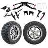 "GTW 6"" Lift w/14"" Dominator Machined/Black Wheel & Recon A/T Tire For Club Car DS (2004.5-Up)"