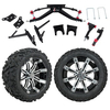 "GTW 6"" Lift w/14"" Tempest Machined/Black Wheel & Barrage Mud Tire For Club Car DS (2004.5-Up)"