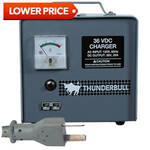 36-Volt 20-Amp E-Z-GO Electric Thunderbull Charger with 2-Prong Crows Foot Plug (Fits 1994.5-Up)
