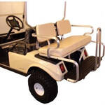 Club Car Precedent Beige Rear Seat W/Black Aluminum (Fits 2004-Up)