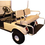 Club Car Precedent White Rear Seat W/Black Aluminum Bars (Fits 2004-Up)