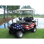 American Flag Golf Cart Body Wrap (Universal Fit)