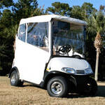 E-Z-GO RXV White 3-sided Over-the-top Enclosure W/New Style Top (Fits 2008-Up)