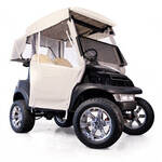 3-Sided Over-The-Top Enclosure For E-Z-GO RXV W/New Style Top (Ivory)